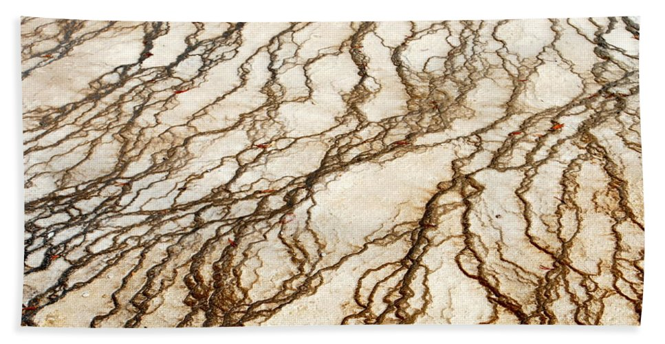 Yellowstone Hand Towel featuring the digital art Spring Runoff by Kathy Sampson