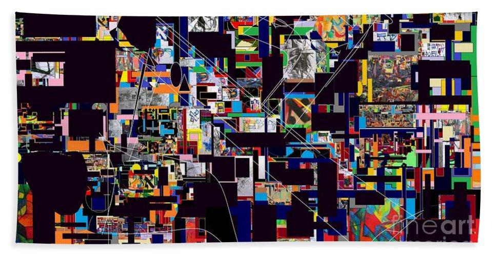 Torah Bath Sheet featuring the digital art Wiping Out The Language Of Amalek14 by David Baruch Wolk