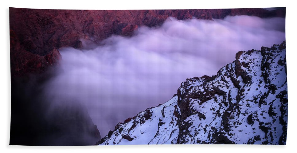 Winter Bath Sheet featuring the photograph View Across The Caldera Taburiente by David Santiago Garcia