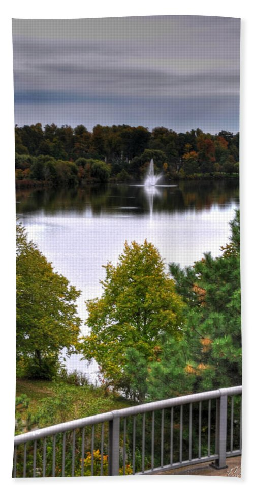 Autumn Bath Sheet featuring the photograph 001 Hoyt Lake Autumn 2013 by Michael Frank Jr