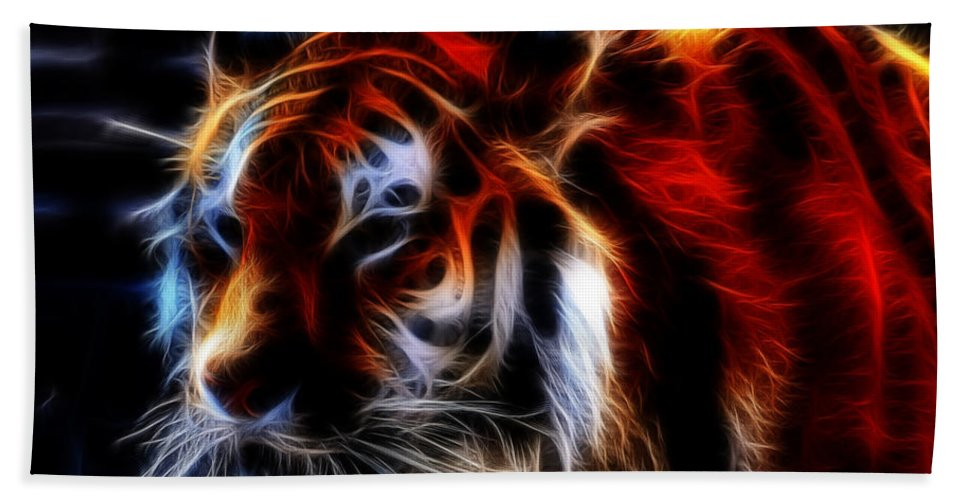 Animals Bath Sheet featuring the photograph 0012 Siberian Tiger by Michael Frank Jr