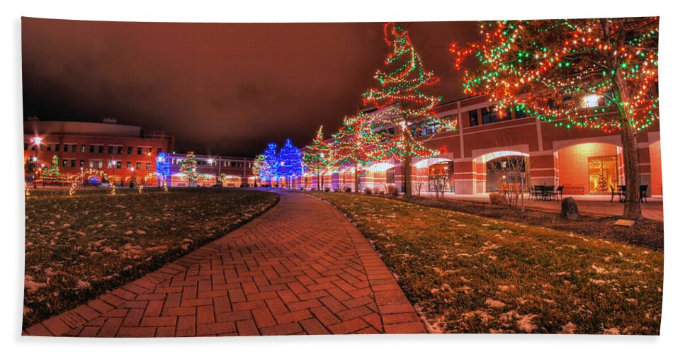 Hand Towel featuring the photograph 002 Christmas Light Show At Roswell Series by Michael Frank Jr