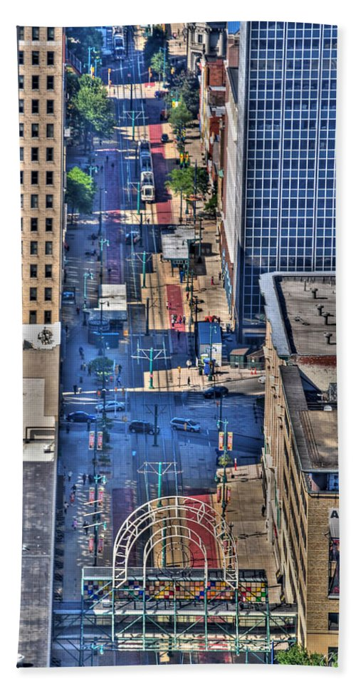 Hsbc Hand Towel featuring the photograph 0022 Visual Highs Of The Queen City by Michael Frank Jr