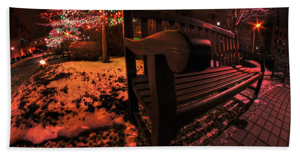 Hand Towel featuring the photograph 003 Christmas Light Show At Roswell Series by Michael Frank Jr