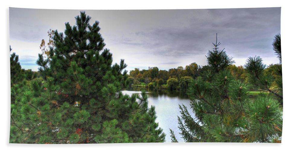 Autumn Bath Sheet featuring the photograph 003 Hoyt Lake Autumn 2013 by Michael Frank Jr