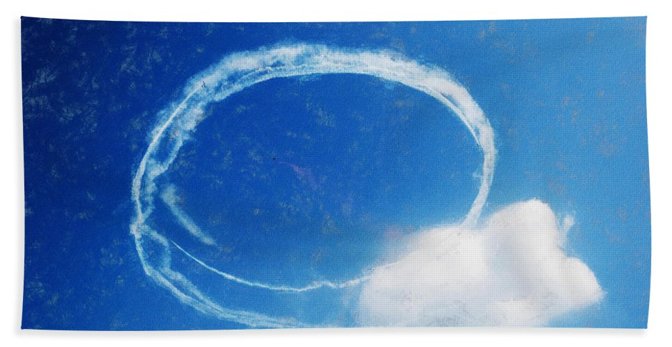 Chicago Hand Towel featuring the digital art 0036 - Air Show - Acanthus by David Lange