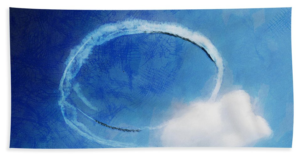 Chicago Hand Towel featuring the digital art 0036 - Air Show - Lux by David Lange