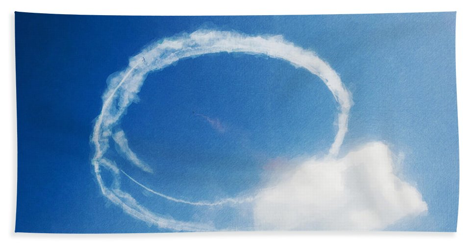 Chicago Hand Towel featuring the digital art 0036 - Air Show - Neo by David Lange