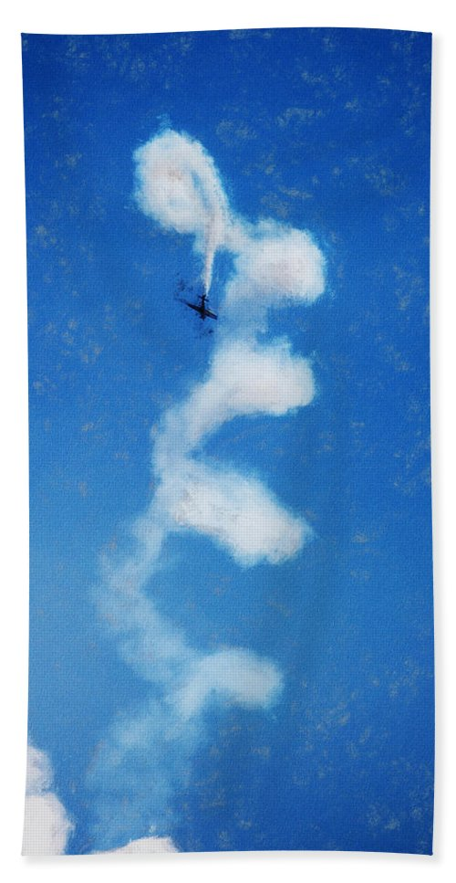 Chicago Hand Towel featuring the digital art 0107 - Air Show - Acanthus by David Lange