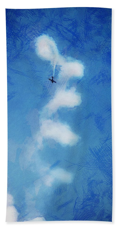 Chicago Hand Towel featuring the digital art 0107 - Air Show - Lux by David Lange