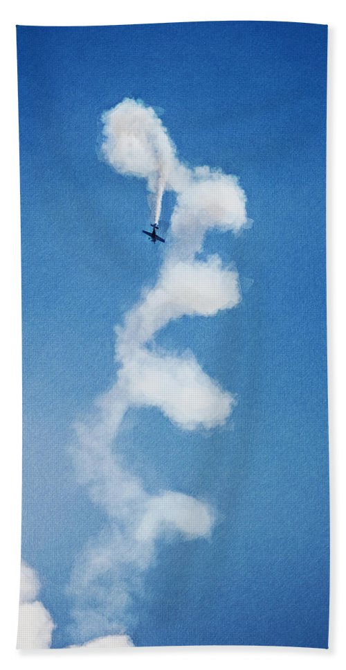 Chicago Hand Towel featuring the digital art 0107 - Air Show - Neo by David Lange