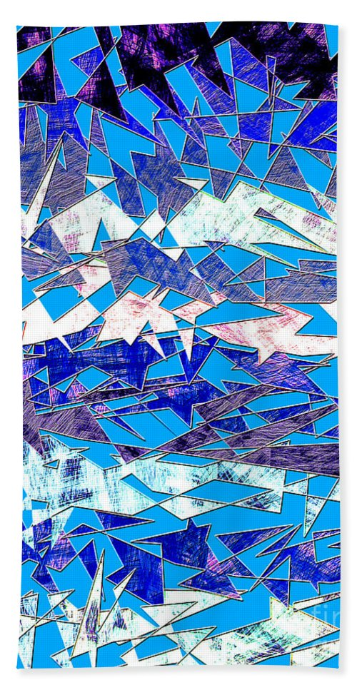 Abstract Bath Sheet featuring the digital art 0137 Abstract Thought by Chowdary V Arikatla