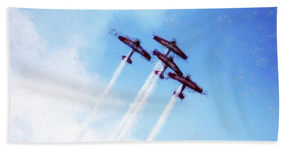 Chicago Hand Towel featuring the digital art 0166 - Air Show - Acanthus by David Lange