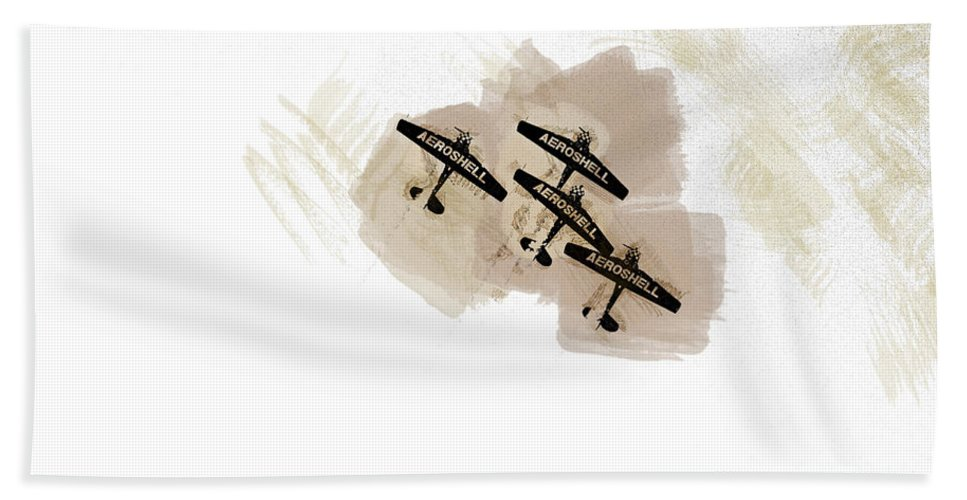 Chicago Hand Towel featuring the digital art 0166 - Air Show - Brown Water by David Lange