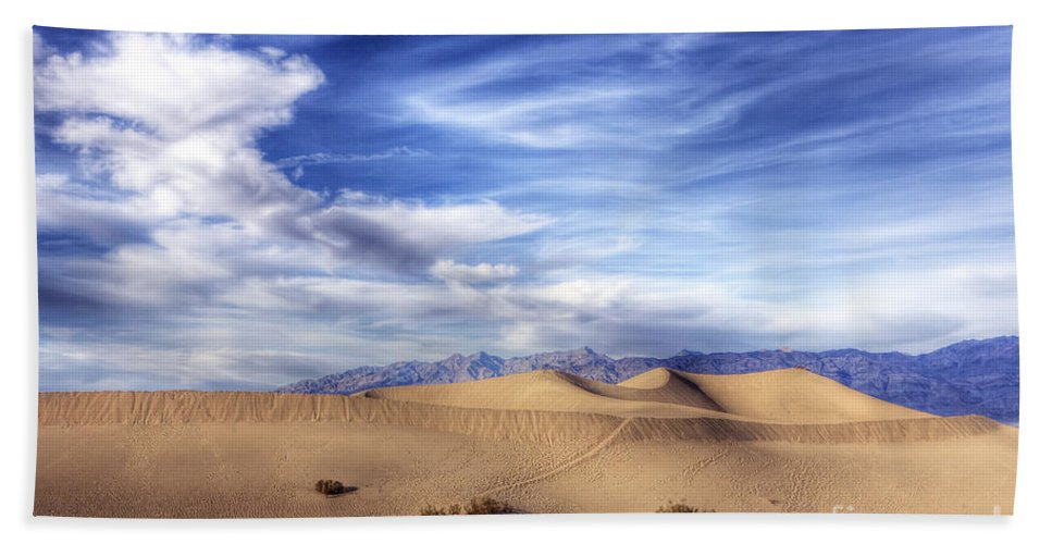 Death Hand Towel featuring the photograph 0292 Death Valley Sand Dunes by Steve Sturgill