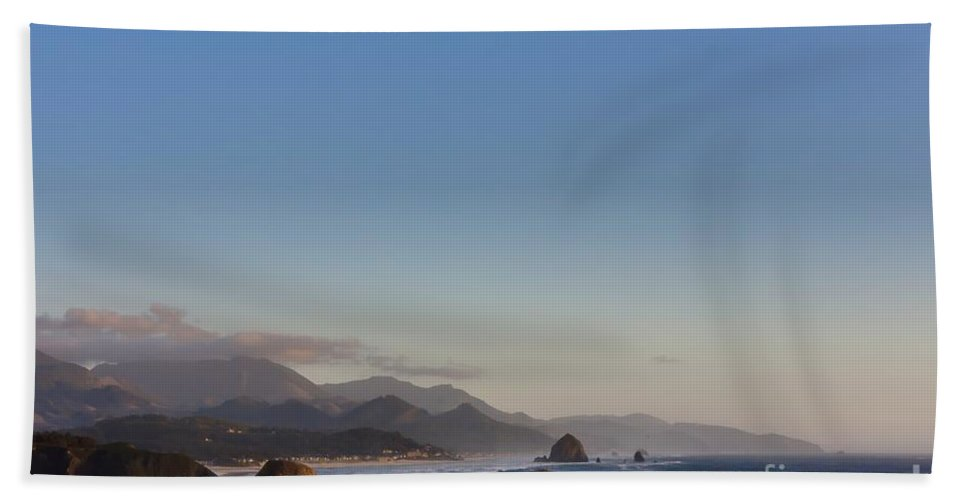 Cannon Bath Sheet featuring the photograph 0320 Cannon Beach Oregon by Steve Sturgill