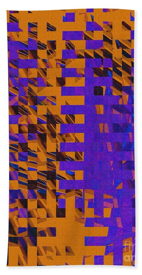 Abstract Hand Towel featuring the digital art 0347 Abstract Thought by Chowdary V Arikatla