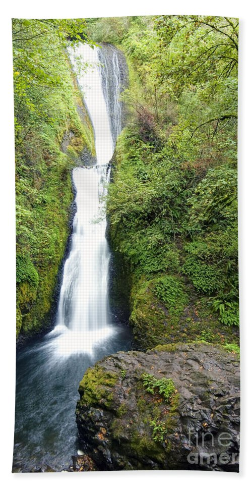 Bridal Hand Towel featuring the photograph 0511 Bridal Veil Falls by Steve Sturgill