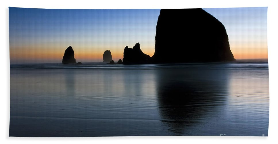 Cannon Hand Towel featuring the photograph 0514 Cannon Beach - Oregon by Steve Sturgill