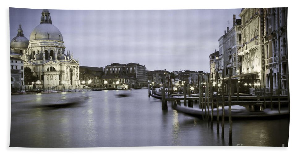 Venice Hand Towel featuring the photograph 0696 Venice Italy by Steve Sturgill