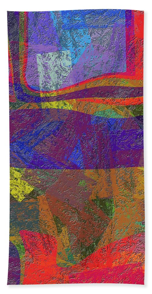 Abstract Hand Towel featuring the digital art 0781 Abstract Thought by Chowdary V Arikatla