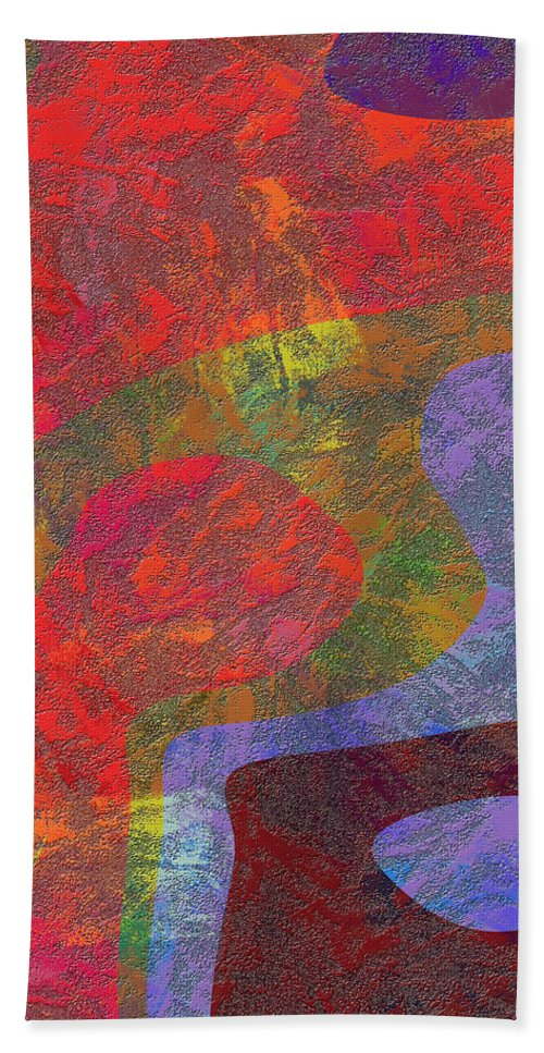 Abstract Hand Towel featuring the digital art 0782 Abstract Thought by Chowdary V Arikatla