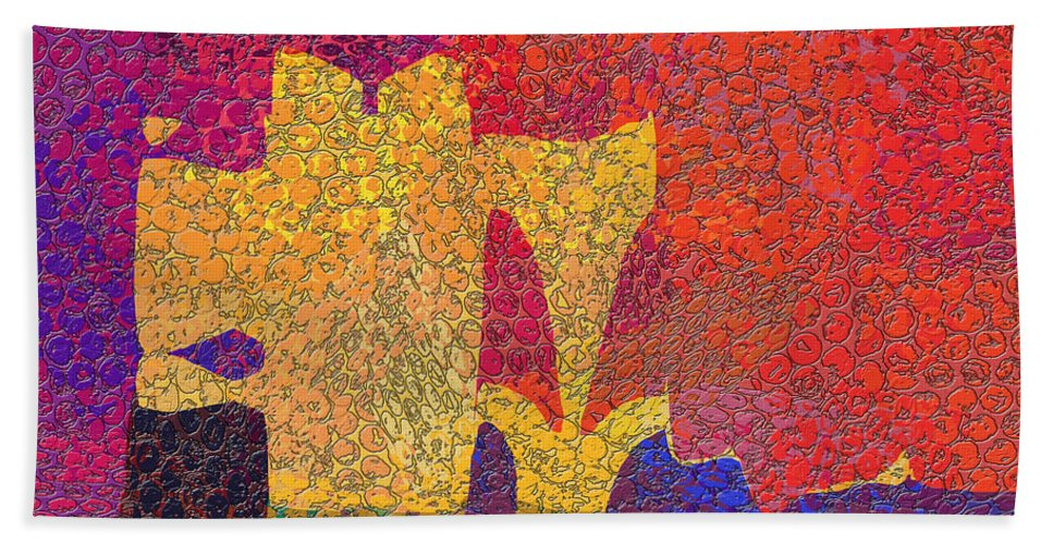 Abstract Hand Towel featuring the digital art 0787 Abstract Thought by Chowdary V Arikatla