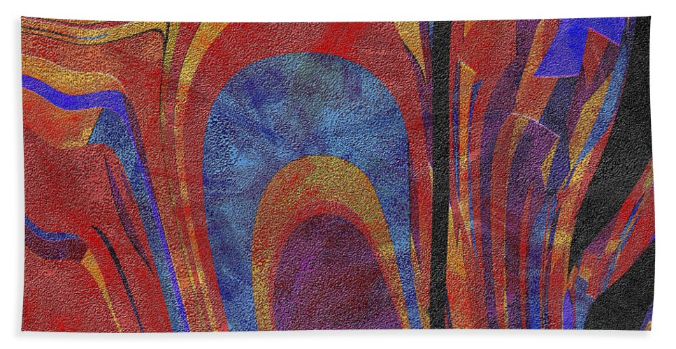 Abstract Bath Sheet featuring the digital art 0880 Abstract Thought by Chowdary V Arikatla