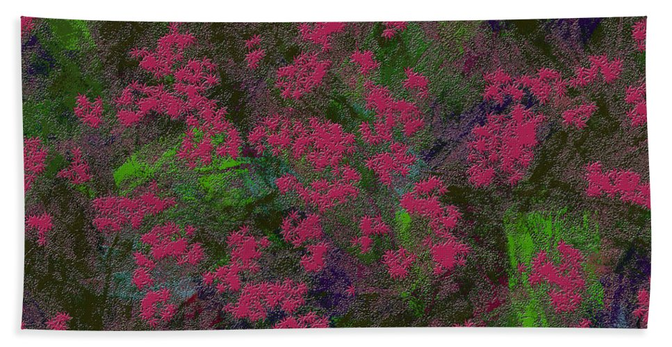 Abstract Bath Sheet featuring the digital art 0901 Abstract Thought by Chowdary V Arikatla