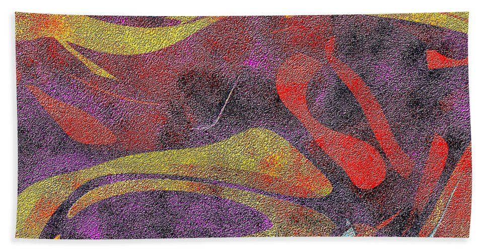 Abstract Bath Sheet featuring the digital art 0906 Abstract Thought by Chowdary V Arikatla