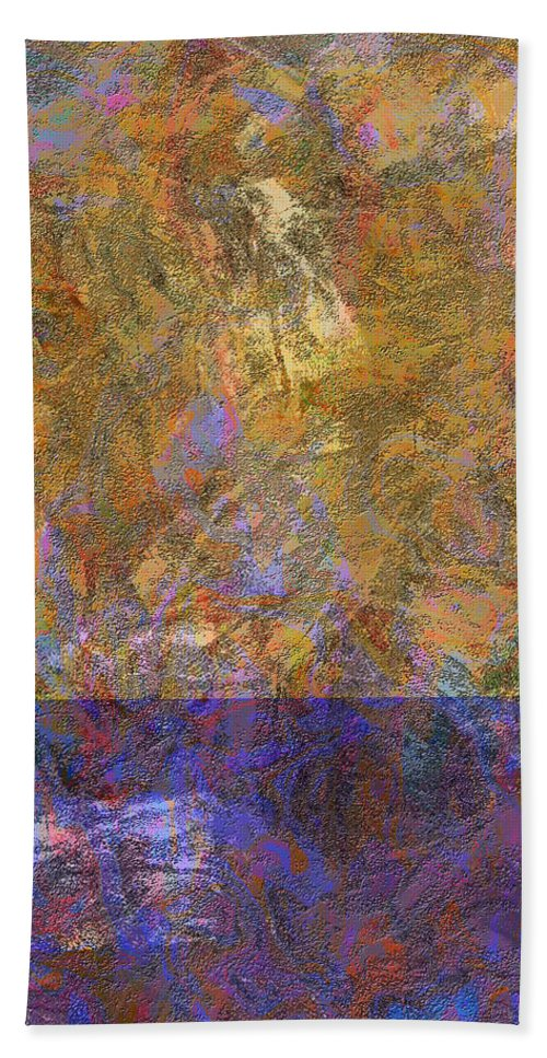 Abstract Bath Sheet featuring the digital art 0913 Abstract Thought by Chowdary V Arikatla