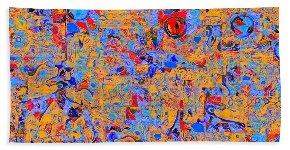 Abstract Hand Towel featuring the digital art 0930 Abstract Thought by Chowdary V Arikatla