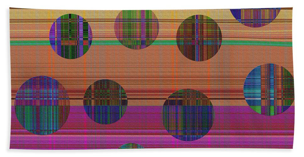 Abstract Bath Sheet featuring the digital art 0948 Abstract Thought by Chowdary V Arikatla