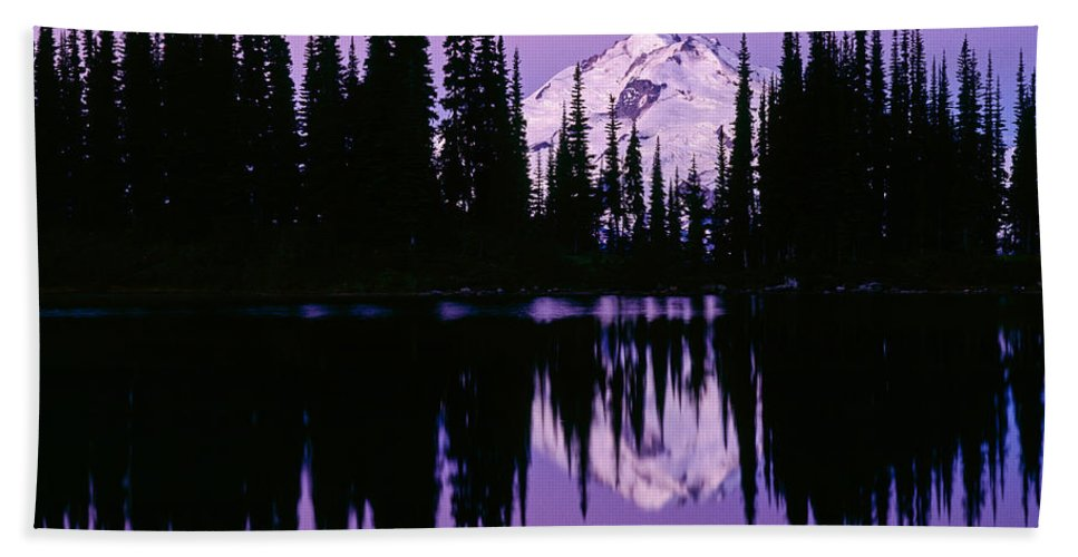 Glacier Peak Hand Towel featuring the photograph Glacier Peak In Image Lake by Tracy Knauer