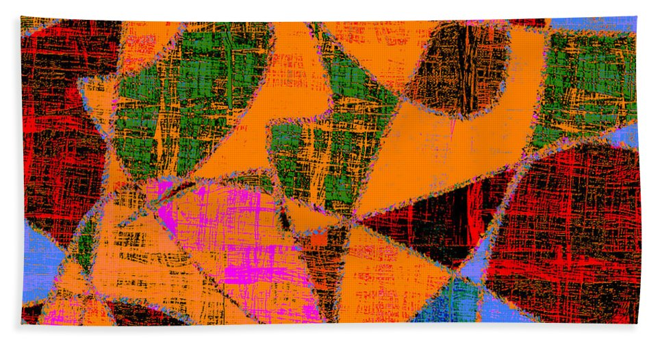 Abstract Hand Towel featuring the digital art 0267 Abstract Thought by Chowdary V Arikatla