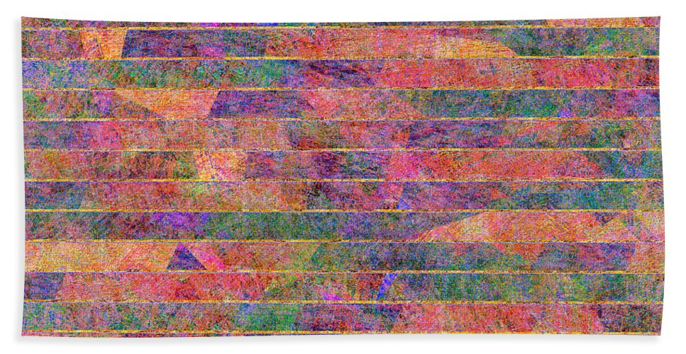 Abstract Bath Sheet featuring the digital art 0310 Abstract Thought by Chowdary V Arikatla