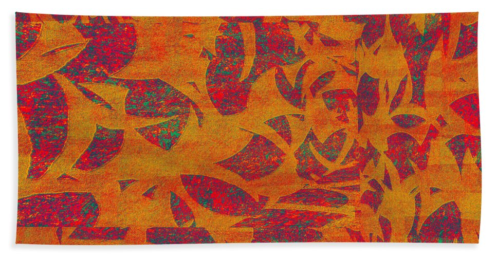 Abstract Hand Towel featuring the digital art 0450 Abstract Thought by Chowdary V Arikatla