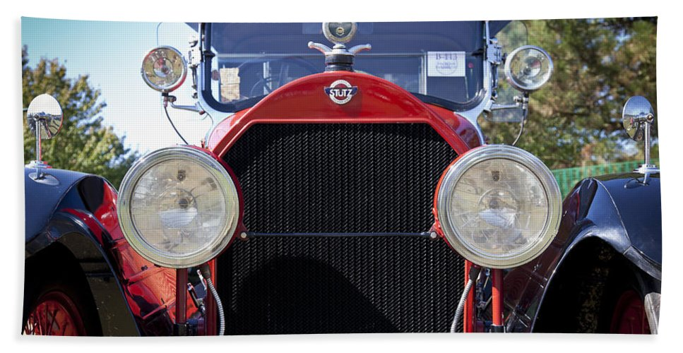 1922 Hand Towel featuring the photograph 1922 Stutz by Jack R Perry