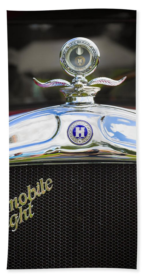 Antique Hand Towel featuring the photograph 1928 Hupmobile Century Model E4 4 Door Sedan by Jack R Perry
