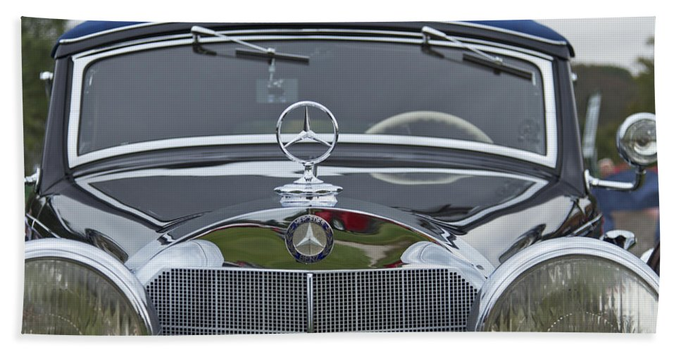 Antique Hand Towel featuring the photograph 1937 Mercedes Benz by Jack R Perry