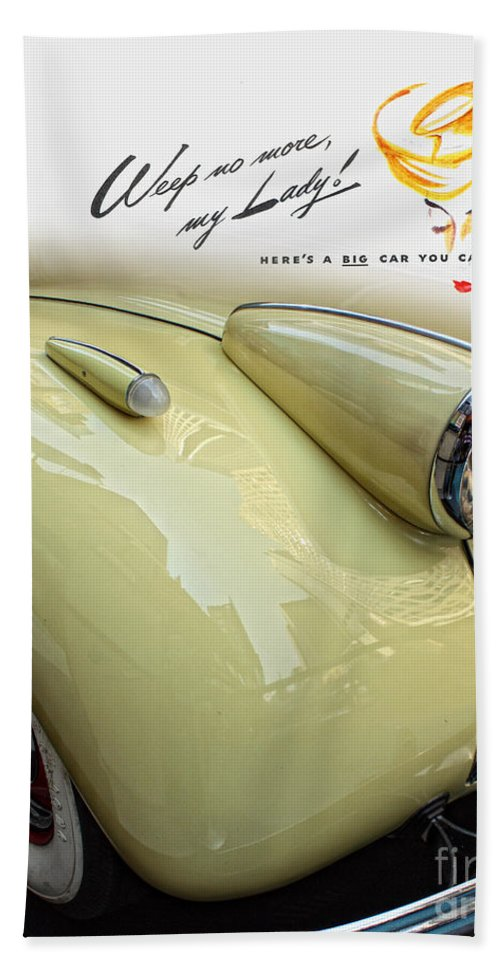 Vintage Buick Car Bath Sheet featuring the photograph 1940 Buick 41c by Nishanth Gopinathan