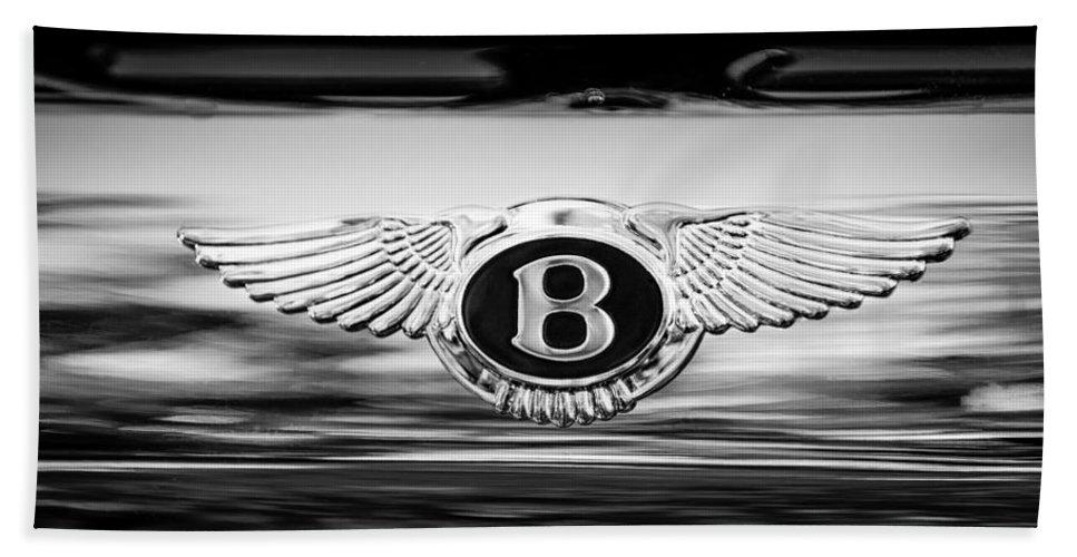 1961 Bentley S2 Continental - Flying Spur - Emblem Bath Sheet featuring the photograph 1961 Bentley S2 Continental - Flying Spur - Emblem by Jill Reger
