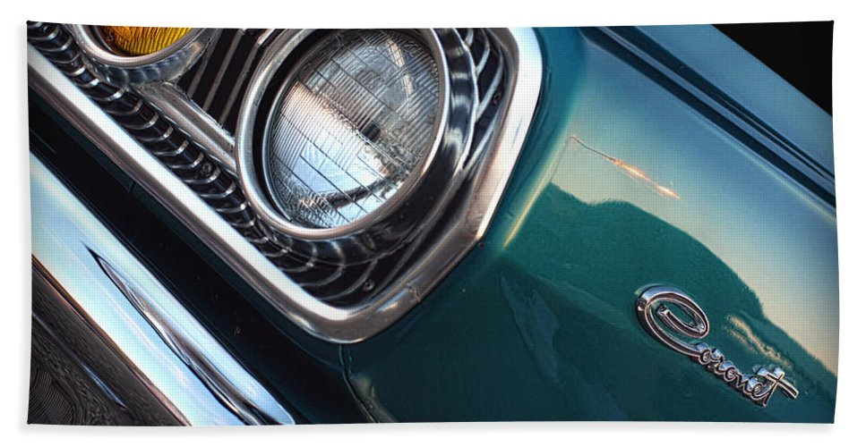 1966 Hand Towel featuring the photograph 1965 Dodge Coronet by Gordon Dean II