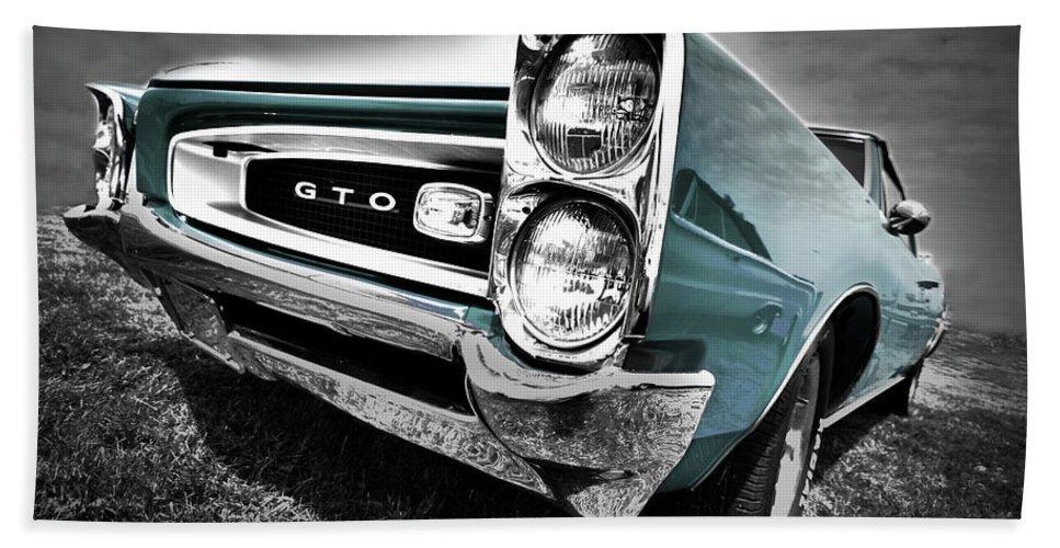 1966 Bath Sheet featuring the photograph 1966 Pontiac Gto by Gordon Dean II