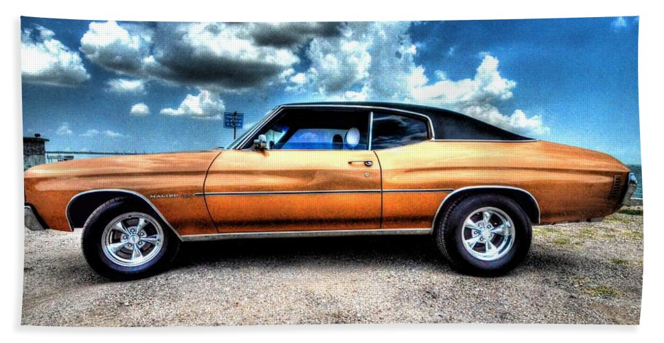 1972 Chevrolet Chevelle Bath Sheet featuring the photograph 1972 Chevelle by David Morefield