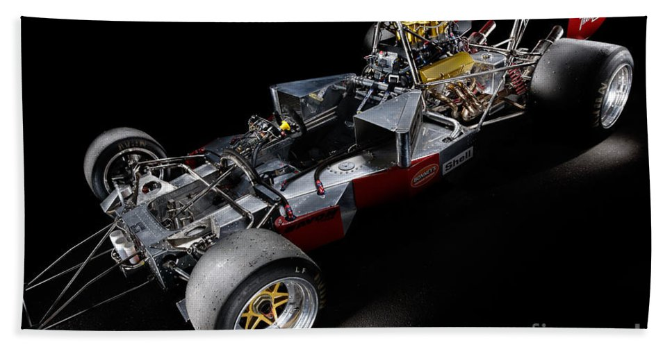 1974 Bath Sheet featuring the photograph 1974 Lola T332 F5000 Race Car V8 5 Litre Chassis by Frank Kletschkus
