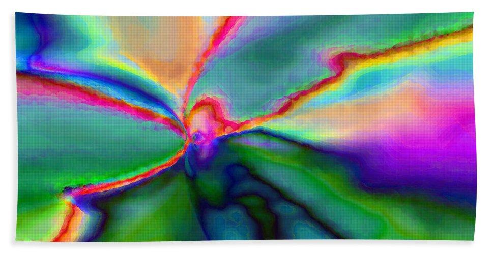Hand Towel featuring the digital art 1999017 by Studio Pixelskizm