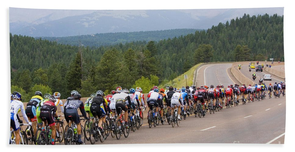 Usa Pro Cycling Challenge Bath Sheet featuring the photograph 2014 Usa Pro Cycling Challenge by Steve Krull
