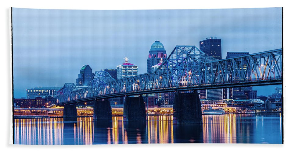 Louisville Hand Towel featuring the photograph 502 by James Guest