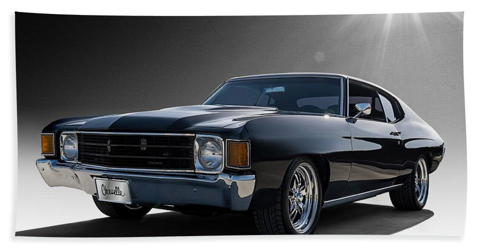 Classic Hand Towel featuring the digital art '72 Chevelle by Douglas Pittman